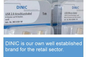 Our concept for specialised retailers. DINIC is our own well established brand for the wholesale and retail market.