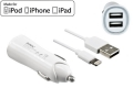 iPhone/iPad USB Ladeadapter + Lightning Kabel, 1m